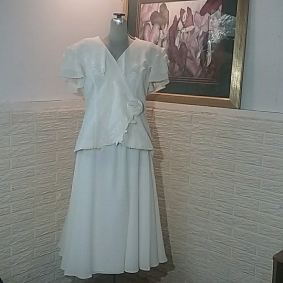 Plus Size 100% Silk 2 Pc Special Occasion Dress 18